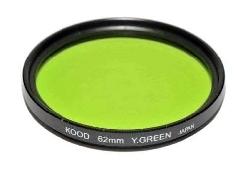 Kood High Quality Optical Glass Yellow/Green Filter Made in Japan 62mm